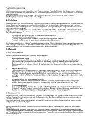 1. Zusammenfassung 2. Einleitung 3. Methodik