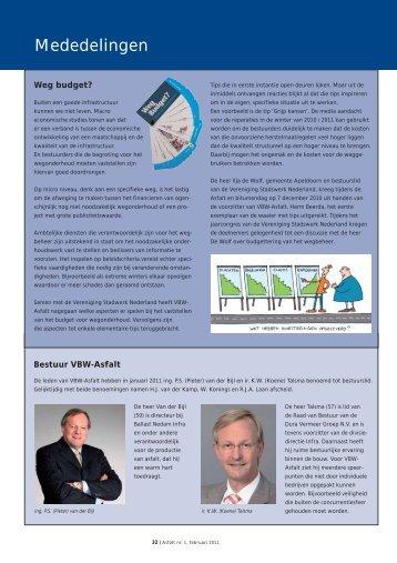 Mededelingen, agenda en leden - VBW-Asfalt