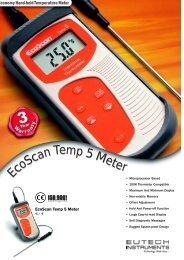 EcoScan Temp 5 Meter - Eutech