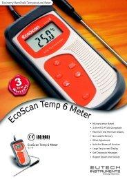 EcoScan Temp 6 New - Eutech