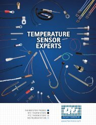 TEMPERATURE SENSOR EXPERTS - Quality Thermistor Inc.