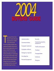 2004 buyers' guide - Police Chief Magazine