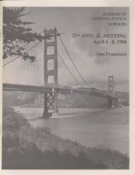 1988 Annual Meeting Program - Academy of Criminal Justice ...