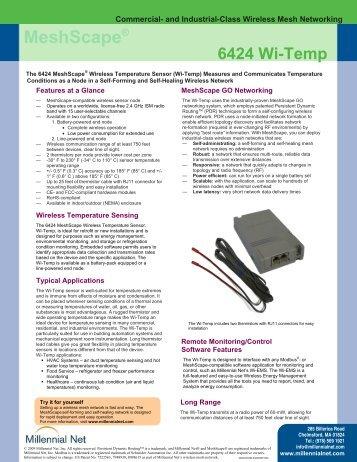 6424 Wi-Temp Specifications MeshScape - Millennial Net