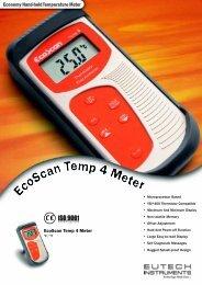 EcoScan Temp 4 Temperature Meter - Eutech