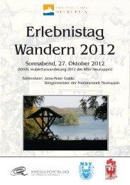 Erlebnistag Wandern 2012 - Berliner Wanderverband