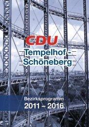 Arbeit – Integration – Gesundheit - CDU Tempelhof-Schöneberg