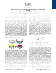 Polymer Nano - Department of Chemistry - Queen's University