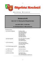 Niederschrift über die 12. Sitzung des Bürgerbeirates am 26.01 ...