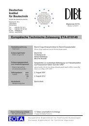 Europäische Technische Zulassung ETA-07/0149 - BOBO Produktions
