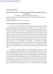 Supplemental Information Electrostatic interactions to modulate the ...