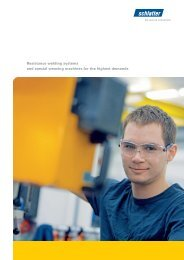 Resistance welding systems and special weaving ... - Schlatter