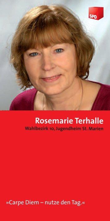 Rosemarie Terhalle - SPD Steinfurt