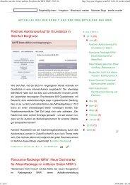 Aktuelles aus der Arbeit und den Projekten der BEG NRW: 2011.06