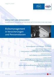 Risikomanagement in Versicherungen und Pensionskassen