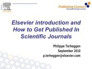 Elsevier introduction and How to Get Published In Scientific Journals