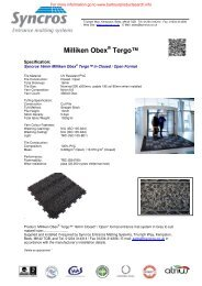 Milliken Obex® Tergo™ Specification - Barbour Product Search