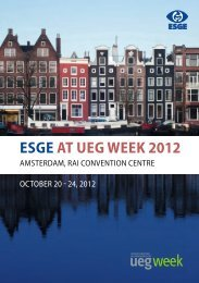ESGE at UEG Week 2012 - programme of events
