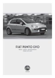 Preisliste Punto Evo - Fiat