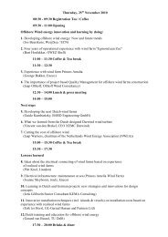 Thursday, 25 November 2010 08:30 - 09:30 Registration ... - We@Sea