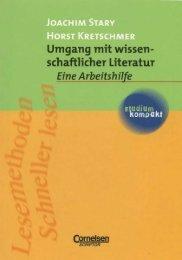 Umgang mit wissenschaftlicher Literatur. - Blogs Freie Universität ...
