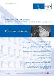Risikomanagement - Fachhochschule des bfi Wien
