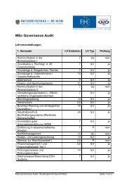 Msc Governance Audit - Fachhochschule des bfi Wien