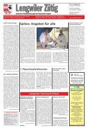 Spitex: Angebot für alle - Gemeinde Lengwil