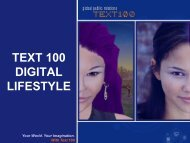 text 100 digital lifestyle