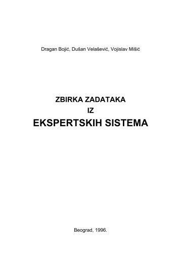 Zbirka zadataka iz Ekspertskih sistema
