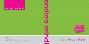 broschüre der textagentur sage&schreibe - Sage & Schreibe