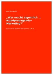 """""""Wer macht eigentlich ... Mundpropaganda- Marketing?"""" - Bernd ..."""