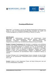 Zusatzqualifikationen - Fachhochschule des bfi Wien