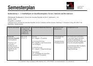 Semesterplan - C.C. Buchner