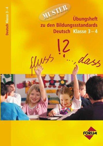 Übungsheft zu den Bildungssstandards Deutsch Klasse 3– 4 ...
