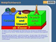 ab Klasse 7 Technik Mensch und Umwelt Franzö- sisch als 2 ...