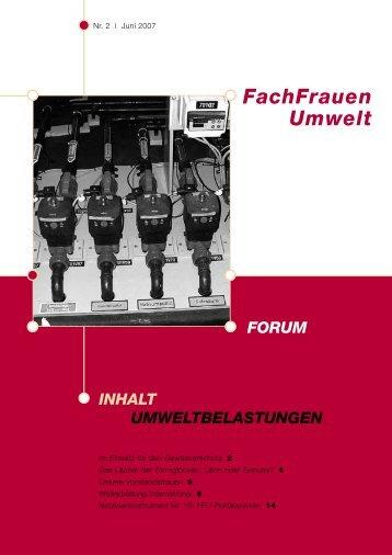 Forum 2/2007 - FachFrauen Umwelt