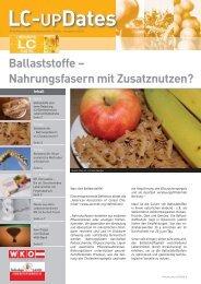 Ballaststoffe - Lebensmittel-Cluster