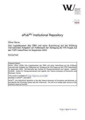 Schriftenreihe des Instituts für Transportwirtschaft und Logistik Nr. 2