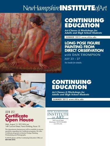 continuing education - New Hampshire Institute of Art