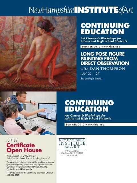 continuing education - New Hampshire Institute of Art 427d2fcfbcdac