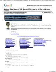 Gmail - Update - Star Wars AT-AT, Game of Thrones ... - Gnollengrom