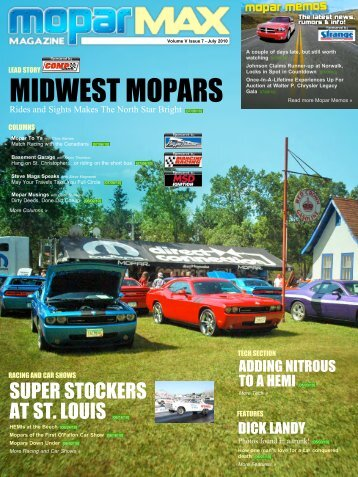 ___ Mopar Max Magazine ___ Volume V, Issue 7 - July 2010