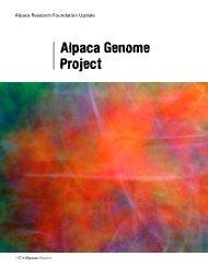 Alpaca Genome Project - Alpaca Research Foundation