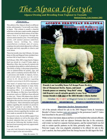 Join us for the Fun! - Magical Farms Alpacas