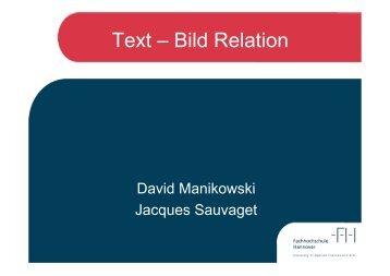 Präsentation zum Thema Text-Bild Relation