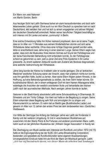 Portrait Lalith Ganehewa (PDF) - Serendib Stiftung