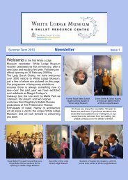 Museum newsletter Issue 1 - The Royal Ballet School