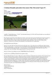 Cristiano Ronaldo präsentiert den neuen Nike Mercurial ... - SC24.com