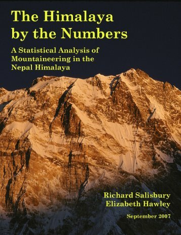 The Himalaya by the Numbers: A Statistical Analysis - Himalayan ...